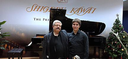 Miguel Bustamante con Carlos Marín Rayo