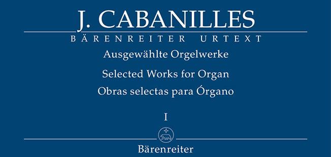 partituras  Obras selectas para órgano de Joan Cabanilles