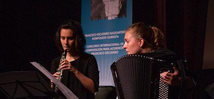 María Zubimendi, acordeón, Laura García, clarinete © Foto Ion Ugarte