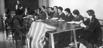 Mujeres moradoras en la Residencia de Estudiantes © www.laescueladelarepublica.es