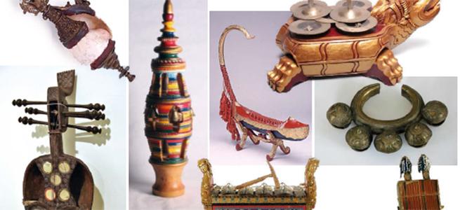 instrumentos  Exposición Música para ver, arte para oír