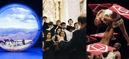 Iglú, de la compañía de teatro Escena Miriñaque. Coro Organum del Conservatorio Profesional de Música Arturo Soria. En busca de la Navidad, de la compañía de circo etíope Fekat Circus