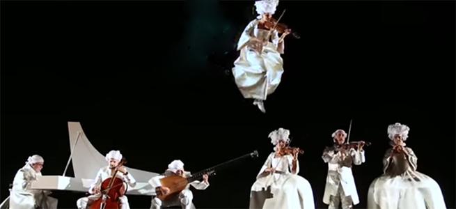 contemporanea danza  Danza aérea y música barroca unidas en San Lorenzo de El Escorial