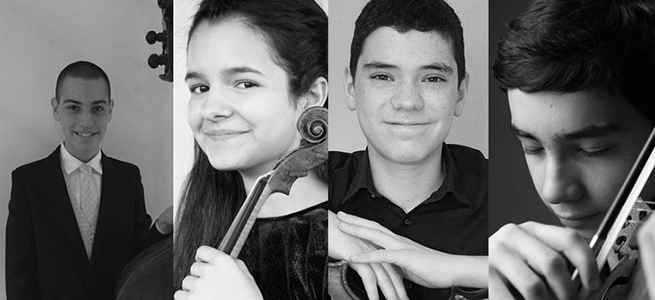 clasica  Jóvenes intérpretes de violín, violonchelo y contrabajo en el Auditorio Nacional