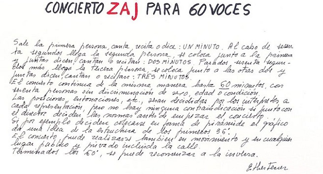 contemporanea  Concierto ZAJ para 60 voces con Esther Ferrer