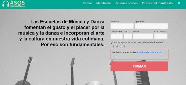 actualidad de centros  Campaña de firmas #SOS Música y Danza