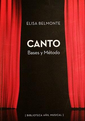 libros  Canto. Bases y método de Elisa Belmonte, ya tiene segunda edición