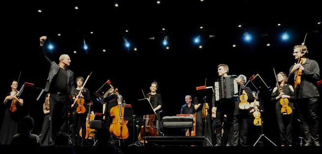 clasica  El acordeón de Iñaki Alberdi, con Musikene Master String Orchestra en Los Ciclos de la UPM