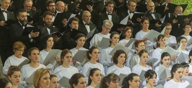 clasica  El Orfeón Donostiarra junto a la Orquesta de Cámara de Andrés Segovia en la temporada de A +música