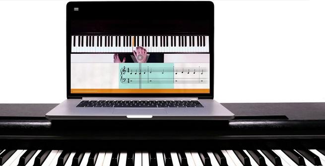 informatica y electronica  flowkey, una app y web para aprender a tocar el piano