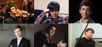 Finalistas del XIX Concurso Internacional de Piano de Santander Paloma O'Shea . Montaje Doce Notas