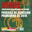 JONDE PRUEBAS ADMISIÓN 2018