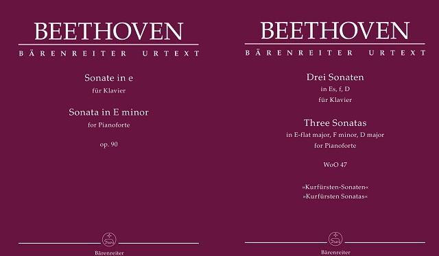 partituras  Beethoven. Sonatas para piano