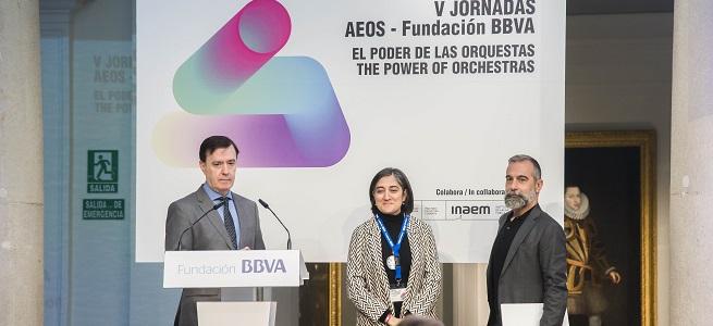 teoria y practica  Las V Jornadas AEOS Fundación BBVA abordan el papel de las orquestas en las crisis migratorias o la igualdad de género en la música clásica
