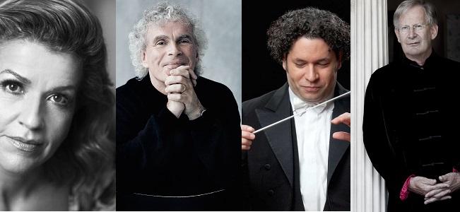 temporadas  Gustavo Dudamel, Anne Sophie Mutter, Sir John Eliot Gardiner o Sir Simon Rattle en la próxima temporada 2019 20 de Palau 100