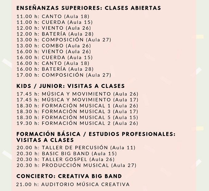 actualidad de centros  Open day en Música Creativa