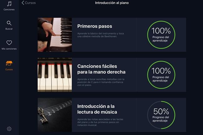 informatica y electronica  flowkey, la app para aprender a tocar el piano, ahora también totalmente en español