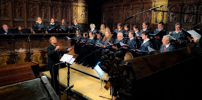 antigua  Concierto del Coro de la Universidad Francisco de Vitoria en la Catedral Primada de Toledo