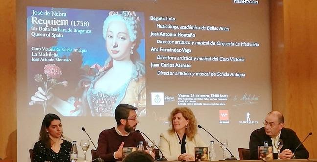 novedades  José Antonio Montaño presenta la primera grabación del Requiem de José de Nebra