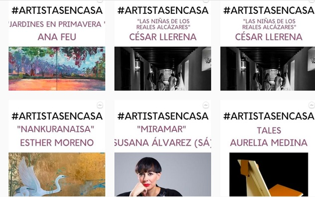 temporadas  El Ayuntamiento de Sevilla apoya la iniciativa #ArtistasEnCasa para acercar el arte a los hogares durante el confinamiento