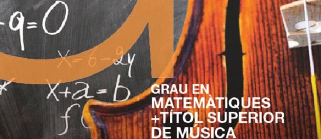universidad  ESMUC+ UPC: doble grado en Música y Matemáticas
