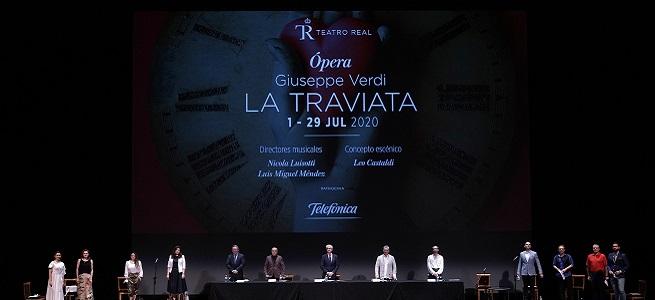 lirica  La traviata sube al escenario del Teatro Real en versión semiescenificada
