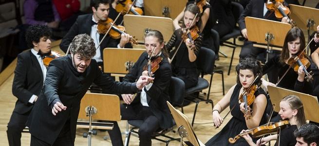 clasica  Pablo Heras Casado dirige la Orquesta Sinfónica Freixenet de la Escuela Superior de Música Reina Sofía