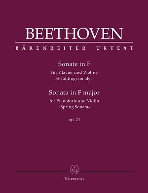 """partituras  Sonata para piano y violín en fa mayor, op. 24, """"Primavera"""""""