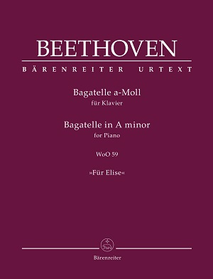 partituras  Bagatelle para Piano in La menor WoO 59 Für Elise