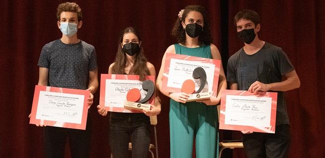 premios  Ganadores del Concurso Juventudes Musicales de España de Piano y otros instrumentos